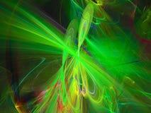 frattale digitale astratto, il nero magico di bellezza della decorazione di energia di forma di scienza di effetto di caos, futur illustrazione di stock