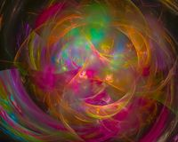 Frattale digitale astratto, stile del modello di caos di energia, onda del partito, moderna illustrazione di stock