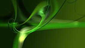 Frattale esile verde su verde Fotografia Stock