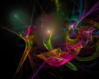 Frattale surreale digitale dell'estratto, modello creativo di progettazione di struttura di caos illustrazione vettoriale