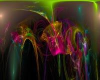 Frattale surreale digitale dell'estratto, modello creativo di progettazione di struttura di caos di effetto illustrazione di stock
