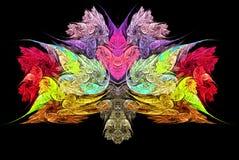 Frattale variopinto astratto che somiglia al mazzo dei fiori e del cuore illustrazione vettoriale