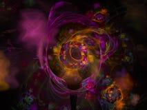 Frattale variopinto di moto astratto di caos di Digital, forma surreale di turbinio, bella progettazione della decorazione, fanta illustrazione vettoriale