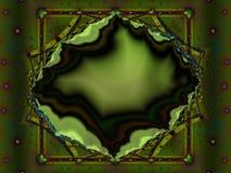 Frattale verde di geode Fotografia Stock Libera da Diritti