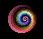 Frattalo a spirale rosso Fotografia Stock Libera da Diritti