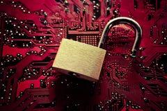 Frattura di sicurezza informatica Fotografia Stock Libera da Diritti