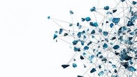 fratura 4K de vidro abstrata ilustração do vetor