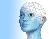 Frau 3D Stockbild
