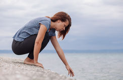Frau allein und deprimiert Lizenzfreie Stockfotografie