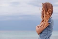 Frau allein und deprimiert Lizenzfreies Stockbild