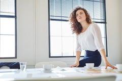 Frau als Unternehmer mit Vision stockbilder