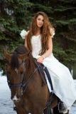 Frau auf einem Pferd Lizenzfreie Stockfotografie