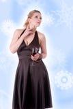 Frau auf einem weißen Hintergrund Lizenzfreie Stockbilder