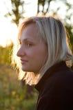 Frau auf einer Abnahme. Stockbild