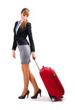 Frau auf einer Geschäftsreise Lizenzfreie Stockbilder