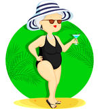 Frau auf Ferien Lizenzfreies Stockbild