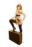 Frau auf Reise Lizenzfreie Stockfotos