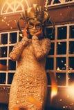 Frau auf venetianischem Karneval Stockbilder