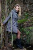 Frau auf Wald Lizenzfreies Stockbild