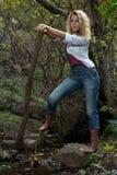 Frau auf Wald Lizenzfreie Stockbilder