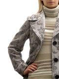 Frau auf Winter-Art und Weise Stockbilder