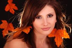 Frau Autumn. Stockfotos