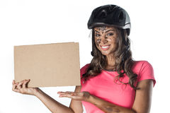 Frau bedeckt Lizenzfreie Stockfotografie
