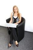 Frau bei der Arbeit Lizenzfreie Stockfotos
