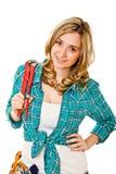 Frau bei der Arbeit Stockbilder