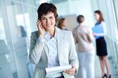 Frau bei der Arbeit Lizenzfreie Stockbilder