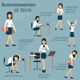Frau bei der Arbeit lizenzfreie abbildung