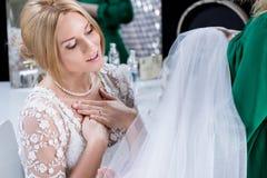 Frau bereit zur Heirat Stockbild