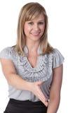 Frau betriebsbereit, Hände zu rütteln Lizenzfreie Stockfotos