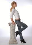 Frau-bleiben Sie Stockfotografie