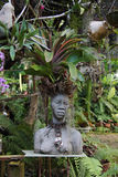 FRAU - BOTANISCHER GARTEN, KUBA stockfoto