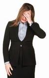 Frau deckt Gesicht ab Lizenzfreies Stockbild