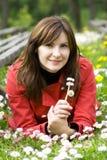 Frau in den Blumen Lizenzfreie Stockfotografie