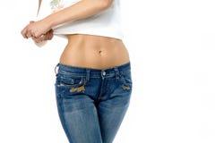 Frau in den Jeans Lizenzfreies Stockbild
