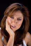 Frau in den Schmerz Stockfoto