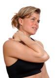 Frau in den Schmerz Stockfotos