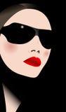 Frau in den Sonnenbrillen Lizenzfreies Stockfoto