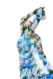 Frau in den Tulpen Stockbild