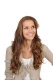 Frau denkt Positiv Lizenzfreie Stockbilder