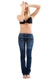 Frau in der Blue Jeans. Lizenzfreie Stockfotografie