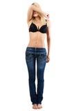 Frau in der Blue Jeans. Lizenzfreie Stockbilder