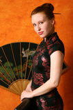 Frau in der chinesischen Art lizenzfreies stockbild