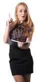 Frau in der Geschäftsart Lizenzfreie Stockbilder