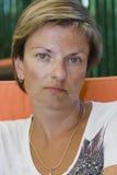 Frau der grünen Augen Stockfotos