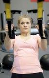 Frau in der Gymnastik Stockfotos