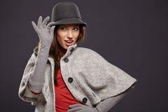 Frau in der Herbstfarbe Beschneidungspfad eingeschlossen Stockfoto